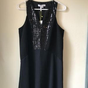 NWT Black Sleeveless Party Dress Sequins